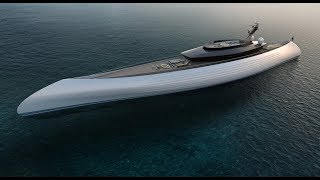TUHURA By Oceanco - 115m Luxury Yacht Concept With Canoe Stern
