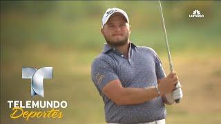 Tremendo golpe para Eagle de Zander Lombard en el hoyo 18 | Telemundo Deportes | Telemundo Deportes