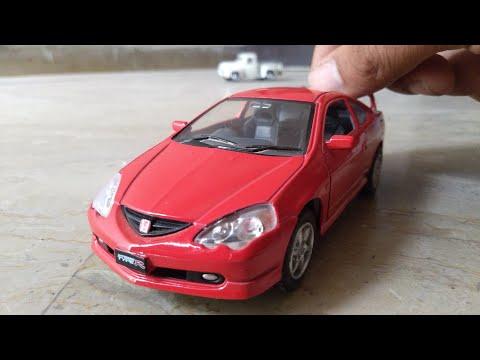 Металлическая машинка Kinsmart 1:34 «Honda Integra Type R» KT5053D, инерционная / Синий