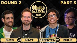 2019 CTWC Classic Tetris Rd. 2 - Part 3 - GREENTEA/MICROBLIZZ + BUCO/MATT MARTIN