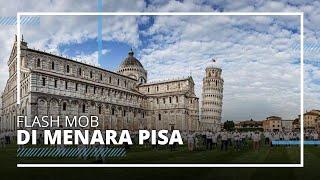 Menara Pisa Dibuka Kembali untuk Wisatawan, Disambut Tarian Flash Mob oleh Penduduk Lokal