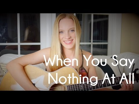 Alison Krauss - When You Say Nothing At All - Acoustic Guitar Cover