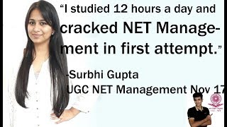 I studied 12 hours a day for 3 months - UGC NET Management - Surbhi Gupta