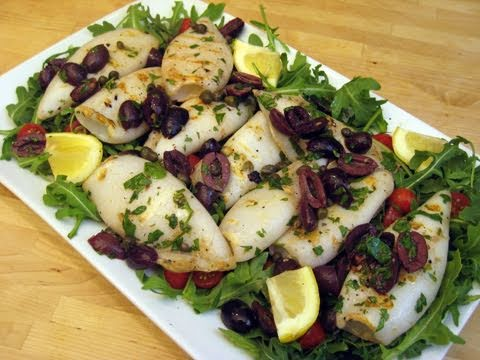 How to Make Grilled Calamari – Italian Style by Laura Vitale Episode 50 'Laura in the Kitchen'