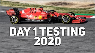 F1 2020 Testing Winter Day 1 | Only Pure Sound