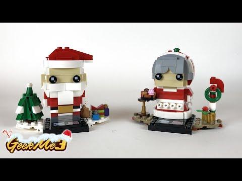 Vidéo LEGO BrickHeadz 40274 : Le père et la mère Noël