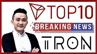 TRON [TRX] NEWS: Coinmarketcap's Top 10 in the Next 6 Months