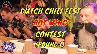 Hot Chili Wings Eating Contest (Round 1) - Dutch ChiliFest 2019