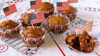 How to Make NO EGG NO DAIRY Chocolate Banana Cupcakes (Independence Day Recipe) 卵&乳製品なし カップケーキ (レシピ)