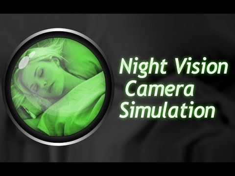 Video of Night Vision Camera Simulation