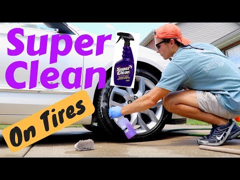 How To Clean Your Tires With SUPER CLEAN DEGREASER! Amazing Product!