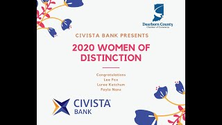 Civista Bank presents the 2020 Dearborn County Women of Distinction