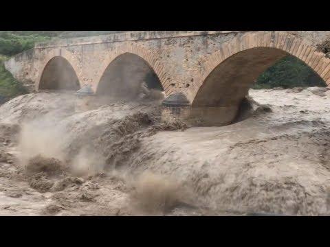 Αντιμέτωπη με τη μανία της κακοκαιρίας η Κρήτη. Κατολισθήσεις και πλημμύρες