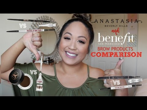Video New Benefit VS Anastasia Beverly Hills Brow Products Comparison | Joyce Golden