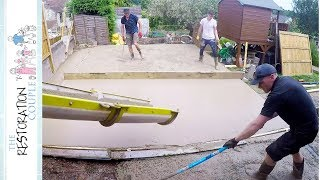 Pouring A CONCRETE SLAB... For The First Time
