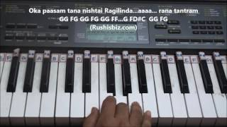 Oka Praanam (Shivam Song) Piano Tutorials - Baahubali 2 (Telugu) | DOWNLOAD NOTES FROM DESCRIPTION