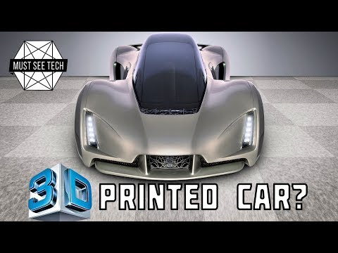 Top 5 Amazing Cars Made By 3D Printers: Vehicles That Exist In 2018