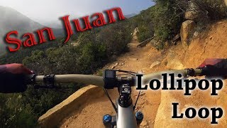 This is a long and physically challenging route through the Cleveland National Forest area that's commonly referred to as the San Juan Lollipop Loop.  In total I logged 23 miles with 4300 feet of climbing.