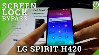 Hard Reset LG Spirit H420 - bypass PATTERN and PASSWORD
