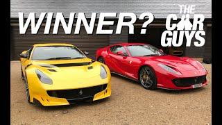 Ferrari 812 versus F12 TDF - which is BEST?
