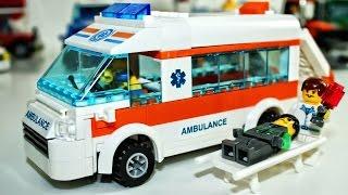 Машинки конструктор Скорая помощь, полицейская машина - Car toy videos for kids
