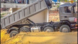 RC Trucks! Tractors! Heavy Load! Truck stuck!