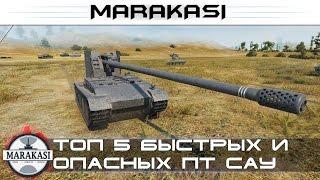 Топ 5 самых быстрых и смертоносных пт сау World of Tanks