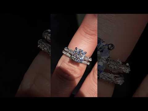 enr190-F1-cu w/Matching Diamond Band