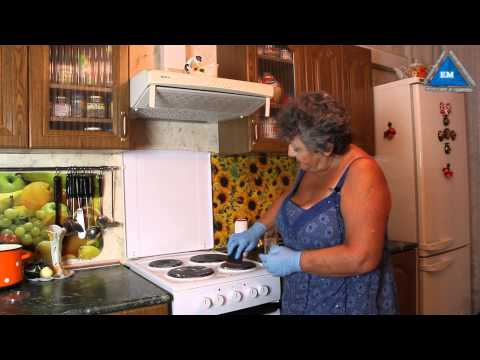 Как отмыть плиту на кухне от жира   народными средствами
