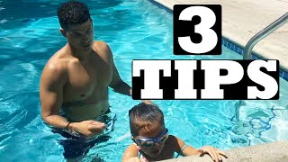 TOP 3 TIPS TO TEACH A KID TO SWIM (at home)