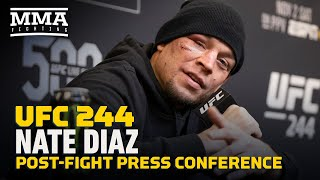 UFC 244: Nate Diaz Post-Fight Press Conference - MMA Fighting