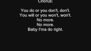 3lw - No more ( baby i;ma do right ) . Lyrics !