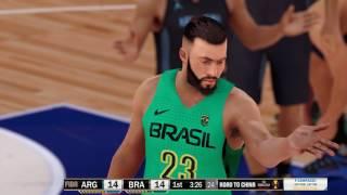 FIBA NBA 2K18 - Brazil x Argentina simulation - China World Cup 2019