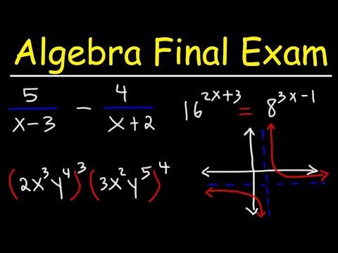 Algebra Final Exam Review - YouTube