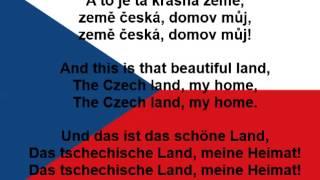 Česká hymna - Czech anthem - Tschechische Nationalhymne (lyrics, text)