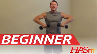 15 Minute Beginner Weight Training - Easy Exercises - HASfit Beginners Workout Routine - Strength by HASfit
