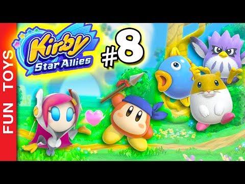 Kirby Star Allies #8 ⭐️ Derrotamos + uma das 3 irmãs Com Susie, Bandana Waddle Dee, Rick, Kine & Coo