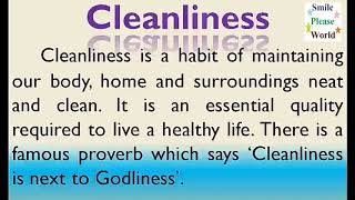 Essay on Cleanliness in English | Few lines on Cleanliness | Cleanliness paragraph