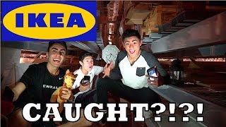 EPIC FORT IN IKEA RAFTERS!! CAUGHT?!?!