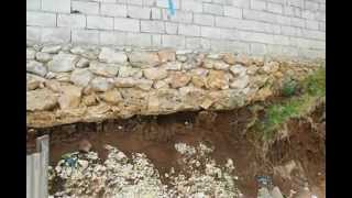 preview picture of video 'Erosion on  the church foundation.'