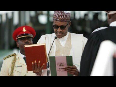 Swearing in of president muhammadu buhari
