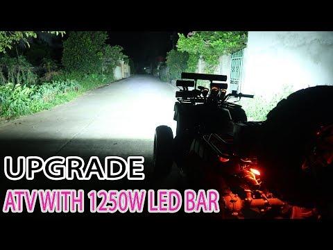 How to Upgrade ATV Quad Bike with 1250W Led bar