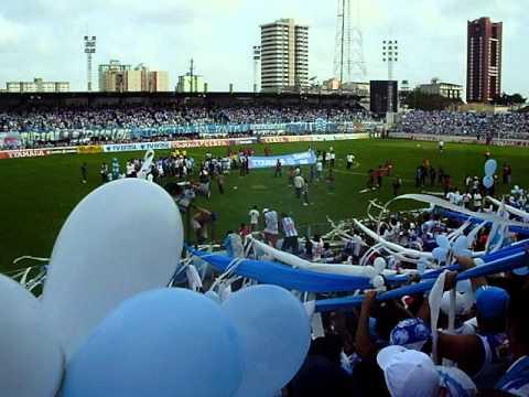 """Alma Celeste - PSC x Salgueiro - Entrada do Time"" Barra: Alma Celeste • Club: Paysandu"