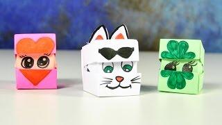 Оригами из бумаги | Кубик меняющий лицо | Поделки для детей