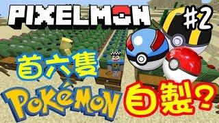 Minecraft:「自己造的精靈球」可以捉到什麼Pokemon? (Pixelmon #2)