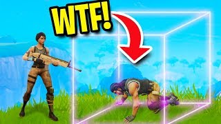 TROLLING PEOPLE WITH INVISIBLE WALLS! | Fortnite Battle Royale
