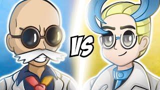 Blaine VS Colress! Pokemon Anime Battle
