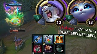 Yuumi but I jungle with Rengar the entire game because kitties stick together also sorry bot lane
