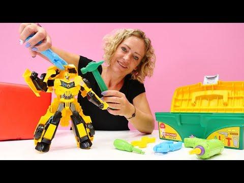 Nicoles Spielzeug Werkstatt - Bumblebee von den Transformers braucht Hilfe
