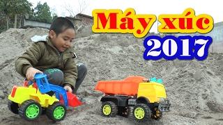 Đồ chơi máy xúc, xe ben chở cát,Toy Excavator, Kênh Em Bé ♥